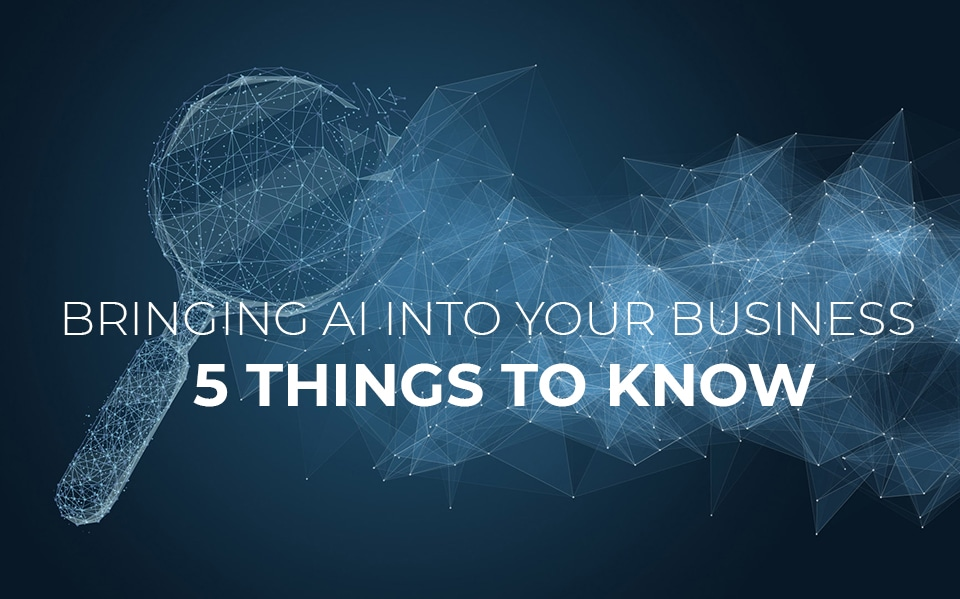 Bringing AI into your business: 5 things to know