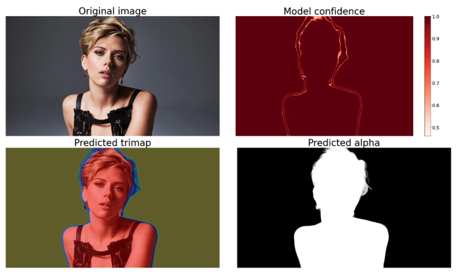 Image shows progress of background removal after noise augmentation